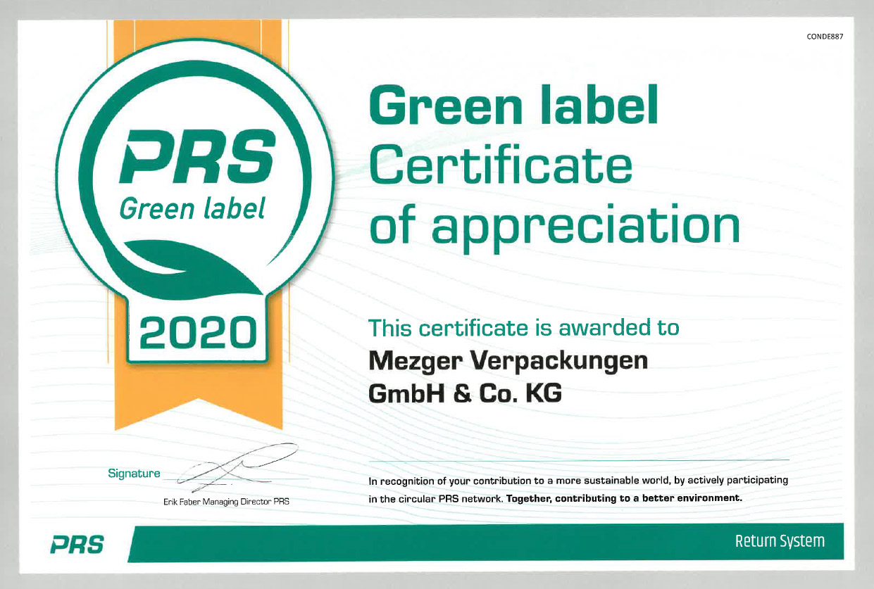 green label certificate